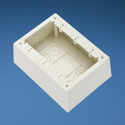 Panduit JBP3DIW Power Rated Three Gang Deep Outlet Box; 7 Inch Length x 5.190 Inch Width x 2.750 Inch Height, International White, PVC