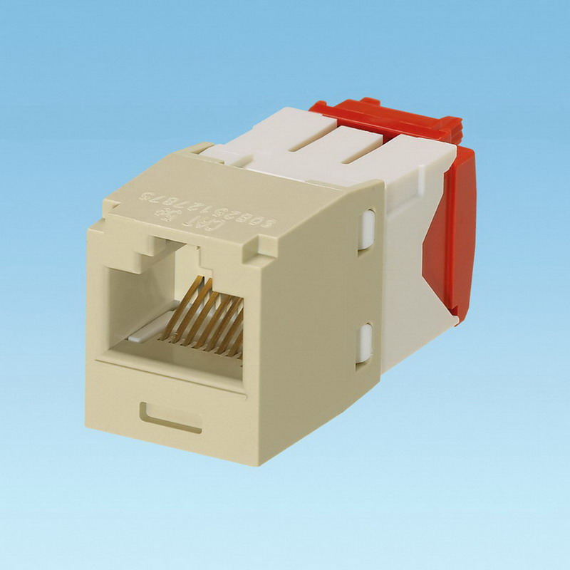 Panduit CJ5E88TGEI-24 Mini-Com® TX5e™ Category 5e/Class D Jack Module; 8P8C, Electric Ivory