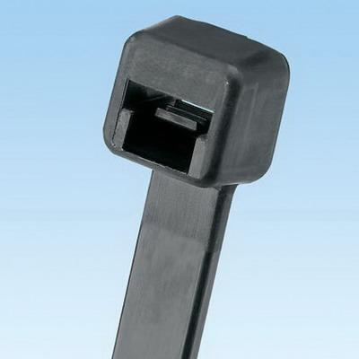 Panduit PLT3S-C0 PAN-TY® Standard Cross Section Cable Tie; 11.500 Inch Length, Nylon 6.6, Black, 50 lb Tensile Strength, 100/PK