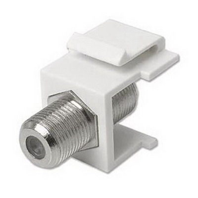 Panduit CMFWH Mini-Com® Straight F-Type Coaxial Coupler Module; White