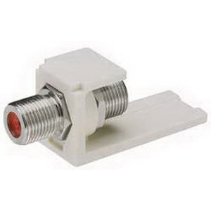 Panduit CMFEI Mini-Com® Straight F-Type Coaxial Coupler Module; Electric Ivory
