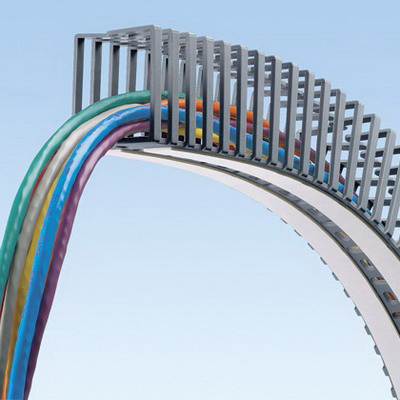 Panduit FL25X25LG-A Panduct® Flexible Wiring Duct; 1.64 ft Length x 0.980 Inch Width x 0.980 Inch Height, Polypropylene, Light Gray