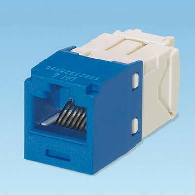 Panduit CJ688TGBU Mini-Com® TX6™ Category 6 RJ45 Jack Module; 8P8C, Blue