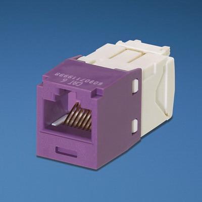 Panduit CJ688TGVL Mini-Com® TX6™ Category 6 RJ45 Jack Module; 8P8C, Violet