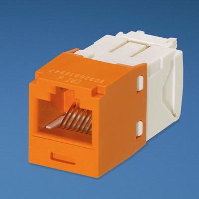 Panduit CJ688TGOR Mini-Com® TX6™ Category 6 RJ45 Jack Module; 8P8C, Orange