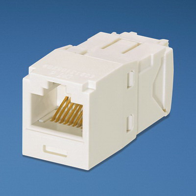Panduit CJ688TGIW Mini-Com TX6 Category 6 RJ45 Jack Module 8P8C Off White