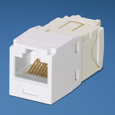 Panduit CJ688TGWH Mini-Com TX6 Category 6 RJ45 Jack Module 8P8C White