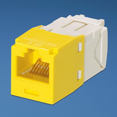 Panduit CJ688TGYL Mini-Com TX6 Category 6 RJ45 Jack Module 8P8C Yellow