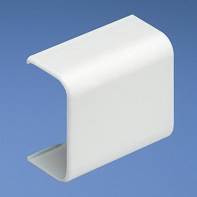 Panduit CF3WH-E Low Voltage Standard Coupler Fitting; 21.1 mm Width x 11 mm Height, White, ABS