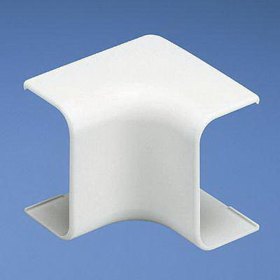 Panduit ICF5WH-E Low Voltage Standard Inside Corner Fitting; Snap-On Mounting, 1.750 Inch Length x 1.140 Inch Width x 0.580 Inch Height, White, ABS