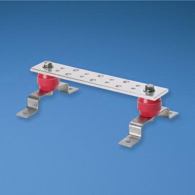 Panduit GB2B0306TPI-1 Grounding Busbar; 12 Inch Length x 2 Inch Width x 0.250 Inch Height