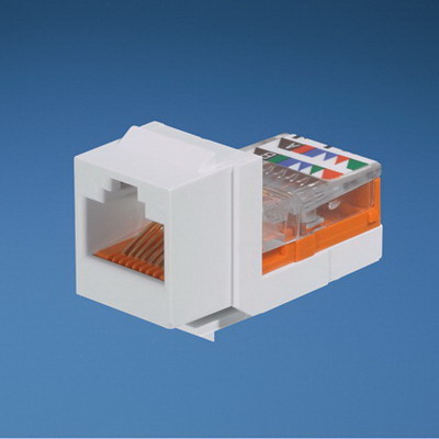 Panduit NK5E88MWHY NetKey® Universal Category 5e/Class D Keystone Jack Module; Panel Mount, 8P, White