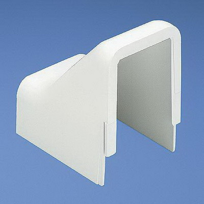 Panduit DCF10EI-X Low Voltage Standard Drop Ceiling/Entrance End Fitting; Snap-On Mounting, 2.250 Inch Length x 2.250 Inch Width x 0.910 Inch Height, Electric Ivory, ABS