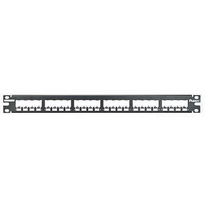Panduit CP24BLY Mini-Com® Mini-Com Flat Modular Patch Panel; 24-Port, 1-Rack Unit, Black
