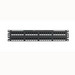 Panduit NK6PPG48Y NetKey® Category 6 Punchdown Patch Panel; 48-Port, 2-Rack Unit, Black