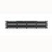 Panduit NK6PPG48Y NetKey® Category 6 Punchdown Patch Panel; 48-Port, 2-Rack Unit, Black