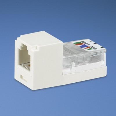 Panduit CJ66UEIY Mini-Com® Mini-Jack™ USOC Category 3 RJ11 Jack Module; 6P6C, Electric Ivory