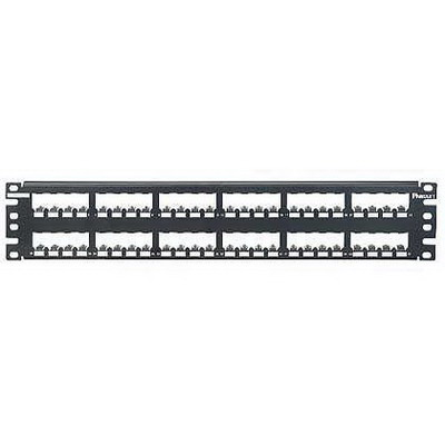 Panduit CP48BLY Mini-Com® Mini-Com Flat Modular Patch Panel; 48-Port, 2-Rack Unit, Black