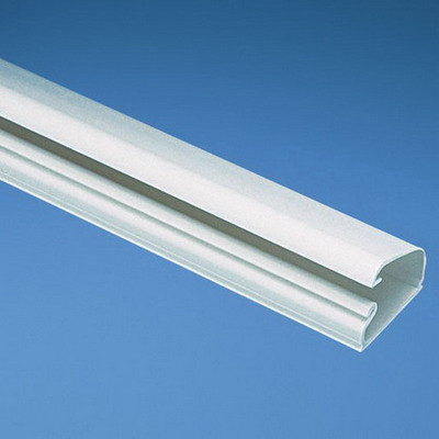 Panduit LD5IW6-A Pan-Way® Single Channel One-Piece Latching Surface Raceway; Size 5, 6 ft Length x 1.010 Inch Width x 0.580 Inch Height, PVC, Office White