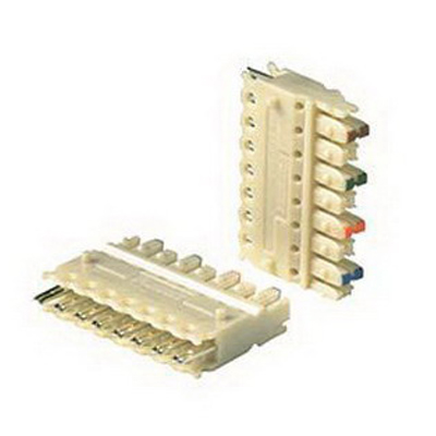Panduit P110CB4-XY Pan-Punch™ 110-Punchdown Category 5e Punchdown Connecting Block; 4-Pair, Electric Ivory