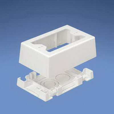 Panduit JBX3510EI-A PAN-WAY® Single-Gang Low Voltage Two-Piece Junction Outlet Box; Surface Mounting, 5 Inch Length x 3.260 Inch Width x 1.620 Inch Height, Electric Ivory, PVC