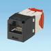 Panduit CJ5E88TGBL Mini-Com® TX5e™ Category 5e/Class D Jack Module; 8P8C, Black