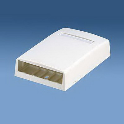 Panduit CBX4WH-AY Mini-Com® Low Profile Surface Mount Box; ABS, White, (4) Port