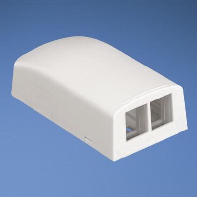 Panduit NK2BXWH-A NetKey® Low Profile Surface Mount Box; ABS, White, (2) Port