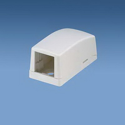 Panduit CBX1WH-A Mini-Com® Low Profile Surface Mount Box; ABS, White, (1) Port