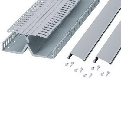 Panduit DRD22LG6 Unique Finger Slotted DRD DIN Pand Rail Wiring Duct; 6.250 Inch x 2.150 Inch x 6 Inch, Lead-Free PVC, Light Gray