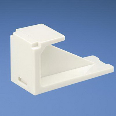 Panduit CMBIW-X Mini-Com® Blank Module; Off White, 10/Pack