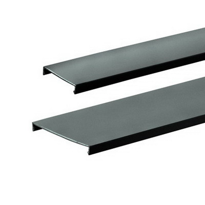 Panduit C1BL6 Fiber-Duct™ Channel Cover; Snap-On Mounting, 6 ft Length x 1.250 Inch Width Black, Lead Free PVC