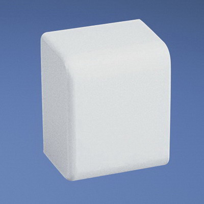 Panduit ECFX10IW-X Power Rated End Cap Fitting; Snap-On Mounting, 1.25 Inch Length x 1.62 Inch Width x 0.93 Inch Height, Off White, ABS