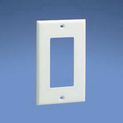 Panduit CPGWH Pan-Way® 1 Gang Faceplate; Plastic, White