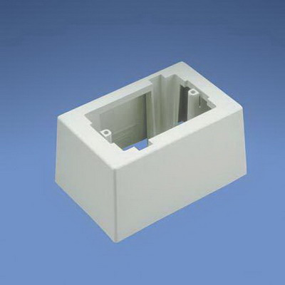 Panduit JB1DWH-A Outlet 1-Gang One-Piece Deep Junction Box; 5.230 Inch Length x 3.480 Inch Width x 2.750 Inch Height, ABS, White, 1/Pack