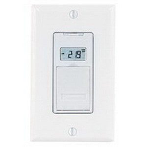 Intermatic EJ500 Electronic 3-Way Digital In-Wall Timer Switch; Up To 14 On/Off Events Per Week, White, SPST, 120 Volt AC