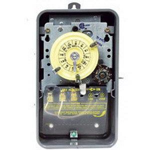 Intermatic T171CR Carryover Mechanical Time Switch; 24 Hour, Gray, SPST, 125 Volt AC, NEMA 3R Steel