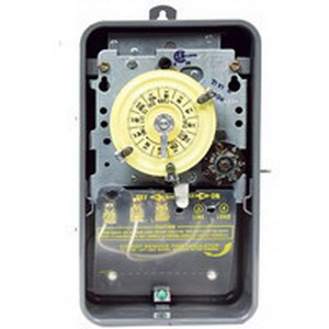 Intermatic T173CR Carryover Mechanical Timer Switch 24 Hour Gray DPST 125 Volt AC NEMA 3R Steel Case