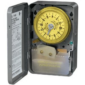 Intermatic T1905E Electromechanical Timer Switch; 24 Hour, Gray, SPDT, 480 Volt, NEMA 1