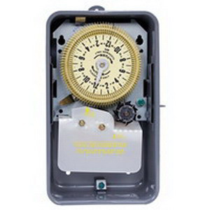 Intermatic T1975R Electromechanical Timer Switch With 7 Day Skipper; 24 Hour, Gray, SPDT, 125 Volt, NEMA 3R Steel Case