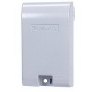 Intermatic WP1010MXD Xtra Tough Boss Extra-Duty 1-Gang Weather Proof Receptacle Cover; Rectangular, Die-Cast Aluminum, Gray