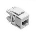 Leviton 5G110-RW5 GigaMax® QuickPort® Category 5e+ Modular Connector; Snap-In/Surface/Flush Mount, 8P8C, White