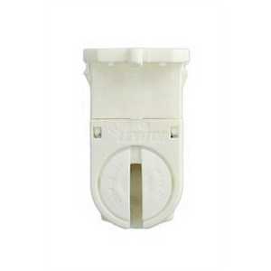 Leviton 23654-TWP T5 Fluorescent Lampholder; 600 Volt, 120 Watt, Quickwire 18 AWG Solid Or Stranded Terminal, Slide-On, Snap-In Mount, Thermoplastic Body, Copper-Alloy Contact, White