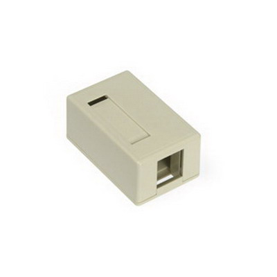 Leviton 41089-1IP QuickPort® Box; Surface, (1) Port, High Impact Flame Retardant Plastic, Ivory