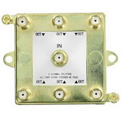 Leviton 47690-G6 SMC 6-Way Passive Video Splitter; 2 Giga-Hz