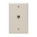 Leviton 40249-I Decora® Wall Plate Jack; Box Mount, 6P4C, Ivory