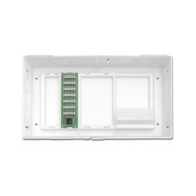 Leviton 47604-F6 Structured Media® Compact Enclosure With Cover; Surface/Flush Mount, White