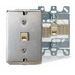 Leviton 40223-S Quickconnect® 1-Gang Wallplate; Wall, (1) 110 Type Quick-Connect 6P4C Jack, Stainless Steel