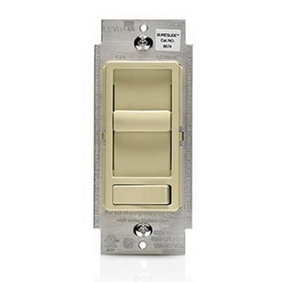 Leviton 6674-P0I Decora® SureSlide® 3-Way Incandescent/CFL/LED Slide Dimmer; 120 Volt AC, Ivory