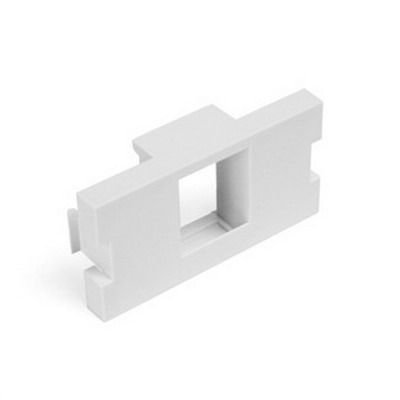Leviton 41291-1MW 1-Gang MOS Module Adapter; Plastic, White